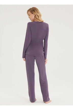 Blackspade Kadın Pijama Takımı 50299 - Menekşe 1