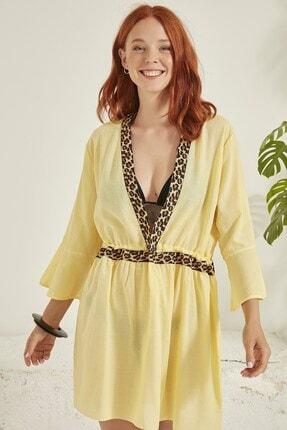 C City Kadın Sarı Pareo Plaj Elbisesi 0