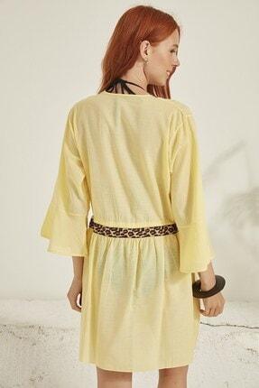 C City Kadın Sarı Pareo Plaj Elbisesi 2