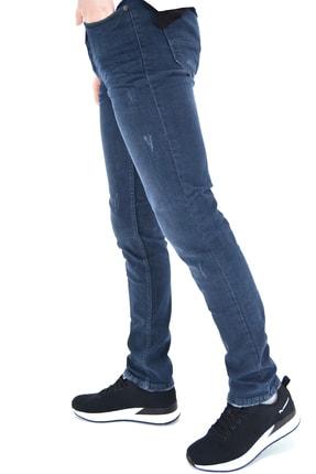 ds danlıspor Erkek Mavi Yıpratmalı Krinkıllı Likralı Kot Pantolon 1