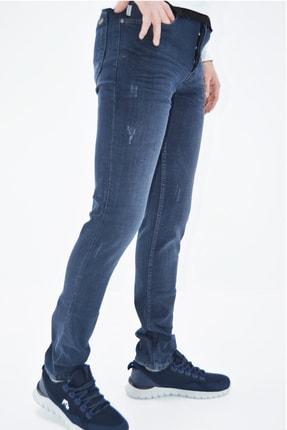 ds danlıspor Erkek Mavi Yıpratmalı Krinkıllı Likralı Kot Pantolon 2