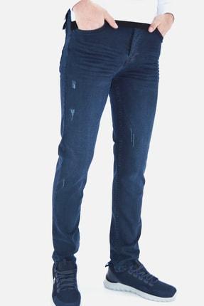 ds danlıspor Erkek Parlement Mavi Yıpratmalı Likralı Kot Pantolon 1