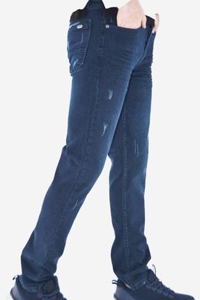 ds danlıspor Erkek Parlement Mavi Yıpratmalı Likralı Kot Pantolon 4