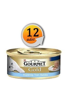 Purina Gourmet Gold Kıyılmış Ton Balıklı Yaş Kedi Maması 85gr 12al 10ödecndst1020ggktb 0