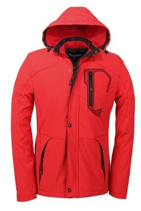 Delpino Erkek Kırmızı Softshell Mont 0