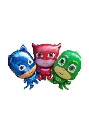 Partini Seç Pija Maskeliler Kedi Çocuk Kertenkele Baykuş Kız Folyo Balonu Seti,pijamaskeliler 3 Lü Set 0