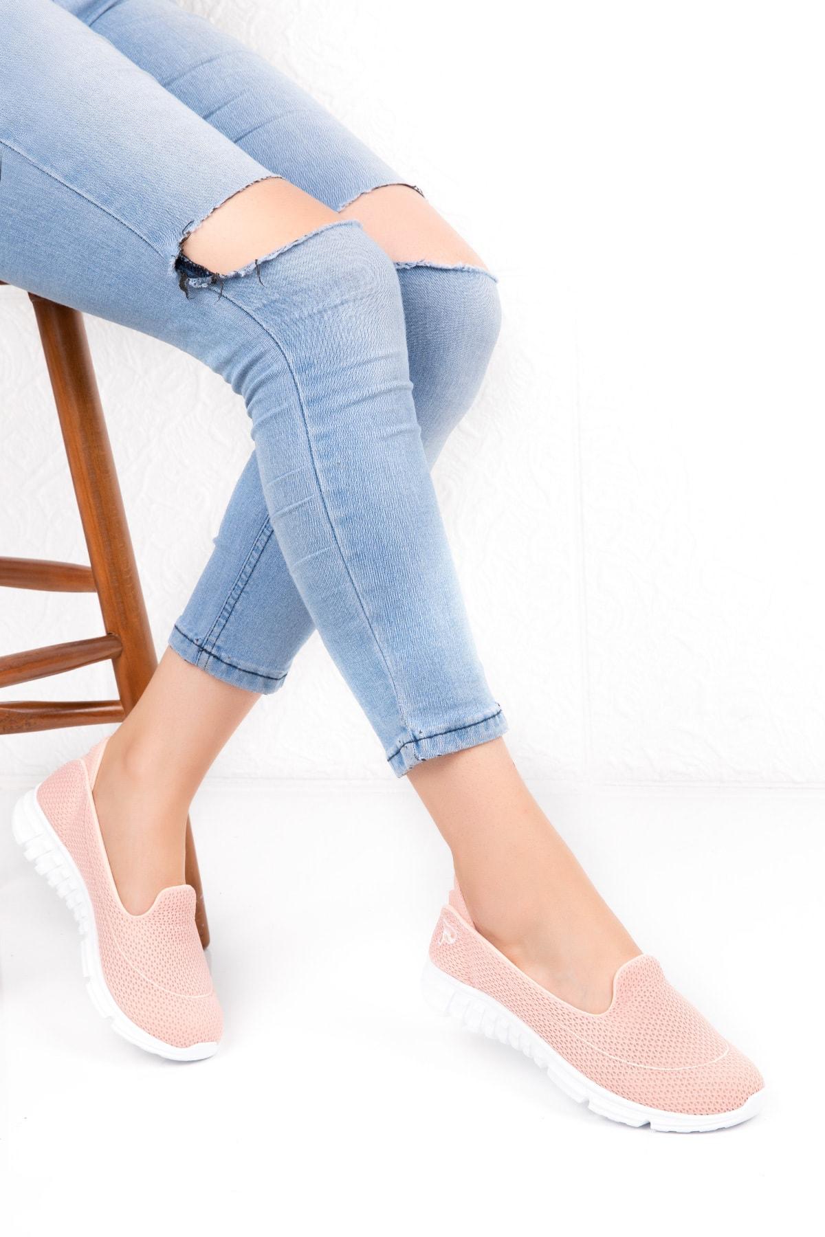 Kadın Somon Memory Ortopedik Taban Günlük Ayakkabı Çpç.001