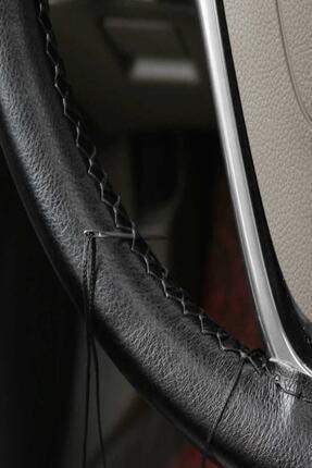 1araba1ev Siyah Kia Niro Oto Otomobil Deri Dikmeli Direksiyon Kılıfı Araba Direksiyon Kılıfı 1
