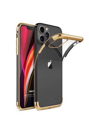 Microsonic Apple Iphone 12 Pro Max Kılıf Skyfall Transparent Clear Gold 0