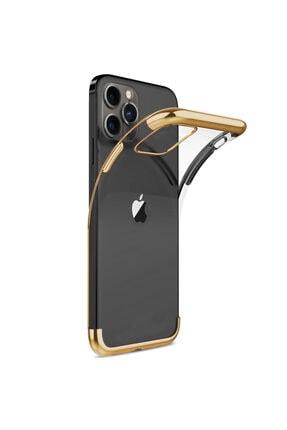 Microsonic Apple Iphone 12 Pro Max Kılıf Skyfall Transparent Clear Gold 1