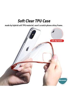 Microsonic Apple Iphone 12 Pro Max Kılıf Skyfall Transparent Clear Gold 4