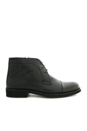 Beta Shoes Erkek Siyah Bağcıklı Bot 0