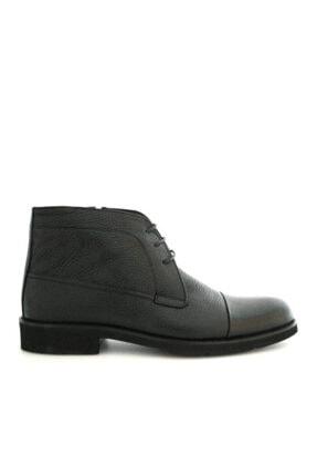 Beta Shoes Erkek Siyah Bağcıklı Bot 1