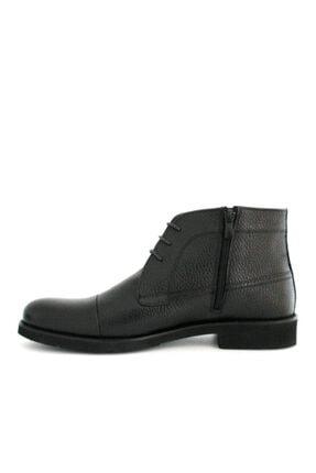 Beta Shoes Erkek Siyah Bağcıklı Bot 3