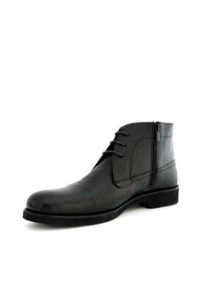 Beta Shoes Erkek Siyah Bağcıklı Bot 4