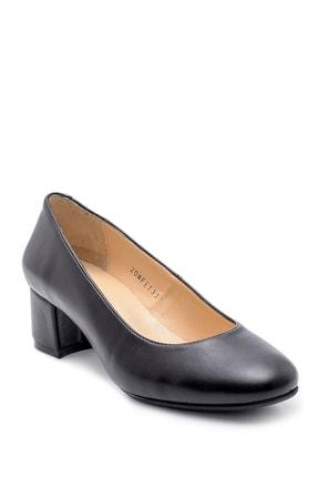 Derimod Kadın Siyah  Kalın Topuklu Ayakkabı 1