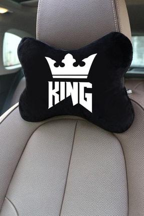 1araba1ev Pejo 508 Oto Koltuk Boyun Yastığı Seyahat 2'li Yastık King Siyah 2