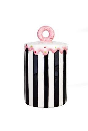 Acr Home Siyah Kavanoz Cupcake 21 cm 0