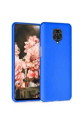 Telefon Aksesuarları Redmi Note 9s - Note 9 Pro Max Mavi Yumuşak Silikon Kılıf 0