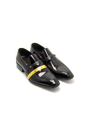 Erkek Siyah Rugan Ayakkabı 120458 Siyah Rugan