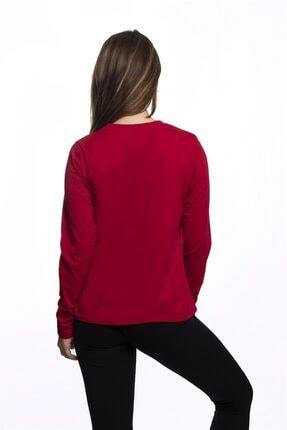 Miss Murem Kadın Kırmızı Be Trendy Kız Baskı Bluz 3