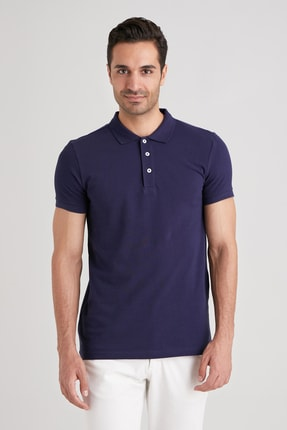 Dufy LACİVERT POLO YAKA ERKEK T-SHIRT - SLIM FIT 2