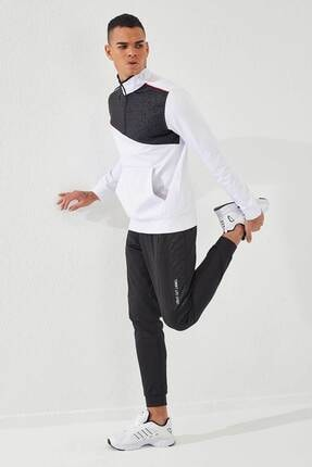 تصویر از Erkek Beyaz-Siyah Sport Pano Baskılı  Dalgıç Eşofman Takım