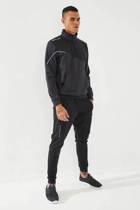 تصویر از Erkek Antrasit Siyah Sport Pano Baskılı Dalgıç Eşofman Takım