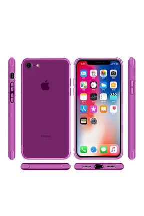 Zore Apple Iphone 7 Kılıf Zore Odyo Silikon Lacivert 3