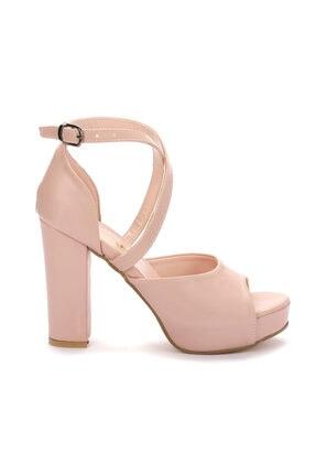 Ayakland Kadın Pembe Topuklu Ayakkabı 3