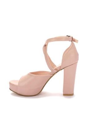 Ayakland Kadın Pembe Topuklu Ayakkabı 4
