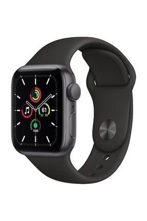 Apple Watch Se Gps 44 Mm Uzay Grisi Alüminyum Kasa Ve Siyah Spor Kordon 0