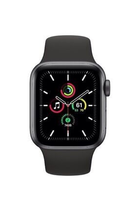 Apple Watch Se Gps 44 Mm Uzay Grisi Alüminyum Kasa Ve Siyah Spor Kordon 1