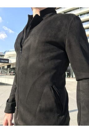 gentofSKY Erkek Siyah Nubuk Mevsimlik Mont 2