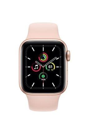 Apple Watch Se Gps 40 Mm Altın Rengi Alüminyum Kasa Ve Kum Pembesi Spor Kordon 1