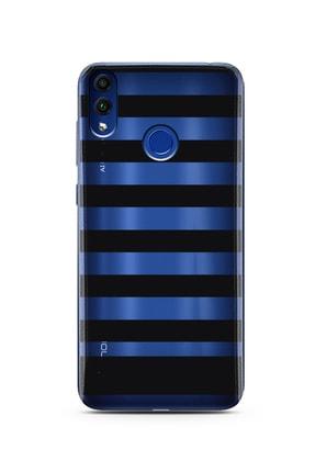 Spoyi Çizgi Tasarımlı Süper Şeffaf Silikon Telefon Kılıfı Huawei Honor 8c 0