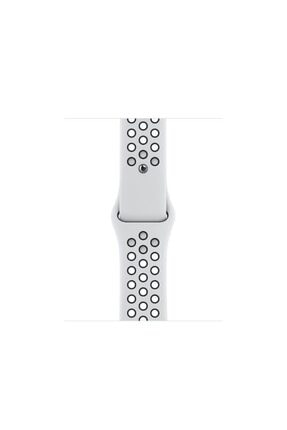 Apple Watch Nike Series 6 Gps 40 Mm Gümüş Rengi Alüminyum Kasa Ve Saf Platin/siyah Nike Spor Kordon 2