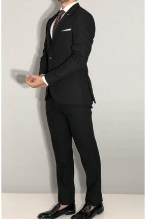 SeSevinç Erkek Siyah Slim Fit Takım Elbise 2