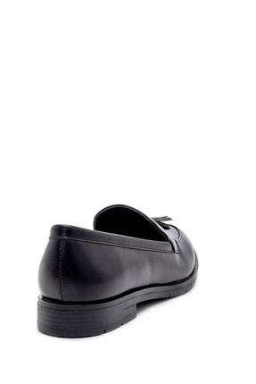 Derimod Kadın Siyah Püskül Detaylı Loafer Ayakkabı 3