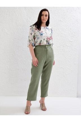 LC Waikiki Kadın Haki Pantolon 0S1641Z8 0