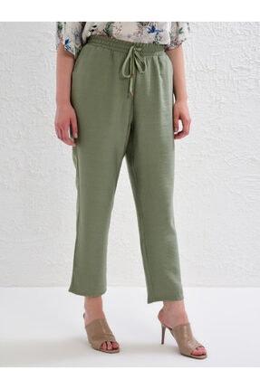 LC Waikiki Kadın Haki Pantolon 0S1641Z8 2