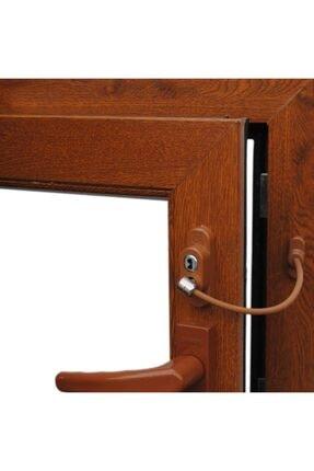 Mashotrend 5 Adet Çelik Halatlı Pvc Kapı Pencere Emniyet Kilidi - Pencere Çocuk Emniyet Kilidi - Kahverengi 1
