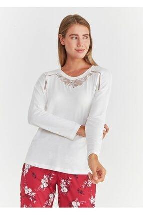 Suwen Kadın Bordo Pijama Takımı 1