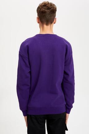 Defacto Unisex Mor Nba Lisanslı Oversize Fit Sweatshirt 3