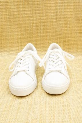 GNY AYAKKABI Kadın Beyaz Suni Deri  Sneaker 2
