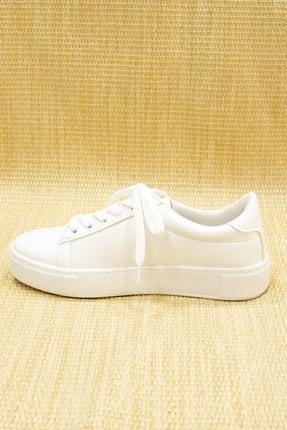 GNY AYAKKABI Kadın Beyaz Suni Deri  Sneaker 4