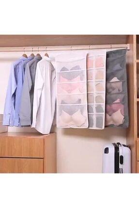 Pi İthalat Dolap Içi Asılabilir Iç Çamaşırı Dolap Düzenleyici - 15 Gözlü 0
