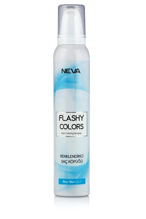 Flashy Colors Geçici Köpük Saç Boyası - Mavi 0