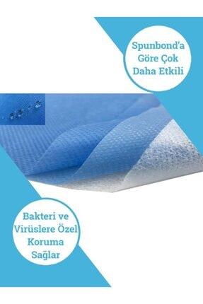 Maskemask Meltblown Full Ultrasonk Maske 3 Katlı Mavi Kumaş 100ad 2