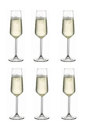 Paşabahçe Allegra 6 Parça Ayaklı Kadeh Flüt Şampanya Kadehi 0